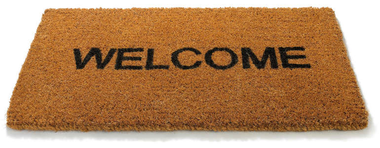 welcome mat - making a great first impression